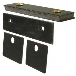 Monroe - 4FCW2 - Magnetic Non-locking Magnetic Catch, 2H x 25/32W, Zinc Finish