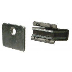 Monroe - 4FCX7 - Magnetic Non-locking Magnetic Catch, 1-1/8H x 13/16W, Aluminum Finish
