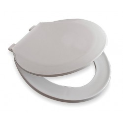 Centoco - GR1200-001 - Toilet Seat, Round, With Cover, 16-7/8 Bolt to Seat Front
