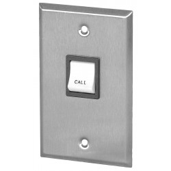 Quam-Nichols - CIB3 - Quam CIB3 Switch, Call-In, Mounted on 1-Gang Plate - Single Gang