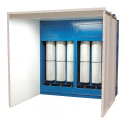 Global Finishing Solutions - PCB-1488 - 14 ft. x 8 ft. x 8 ft. Floor Style Recovery Powder Booth
