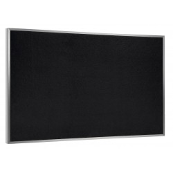 Ghent - ATR46-BK - Black Recycled Rubber Bulletin Board, Aluminum Frame Material, 72-1/2 Width, 48-1/2 Height