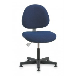 Bevco Precision - V800SMG - Fabric Ergonomic Chair with 16 to 21 Seat Height Range and 300 lb. Weight Capacity, Navy
