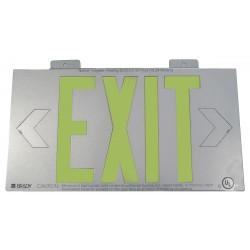 Brady - 112653B - Exit and Entrance, No Header, Plastic, 8-1/4 x 15-1/4, Bracket, Not Retroreflective