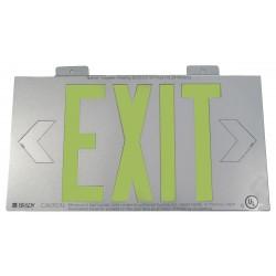 Brady - 112655B - Exit and Entrance, No Header, Plastic, 8-1/4 x 15-1/4, Bracket, Not Retroreflective