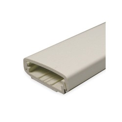 Legrand Group - 2300BAC - 5 ft. 2300 Series Raceway, PVC, Ivory, Cover Type: Snap On