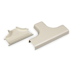 Legrand Group - 415 - PVC Tee For Use With 400 Raceway, Ivory