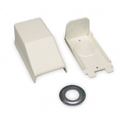 Legrand Group - 2310A - PVC Entrance End For Use With 2300 Raceway, Ivory