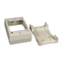 Legrand Group - 2347 - PVC Device Box For Use With 400, 800 and 2300 Raceways, Ivory