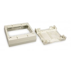 Legrand Group - 2347-2 - PVC Device Box For Use With 400, 800 and 2300 Raceways, Ivory