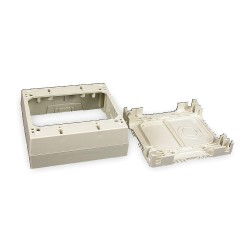 Legrand Group - 2348-2 - PVC Deep Device Box For Use With 400, 800 and 2300 Raceways, Ivory