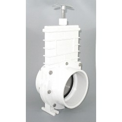 Valterra Products - 6401GR - Class 125 Slip Gate Valve, Inlet to Outlet Length: 5-3/16, Pipe Size: 4, Max. Fluid Temp.: 167F