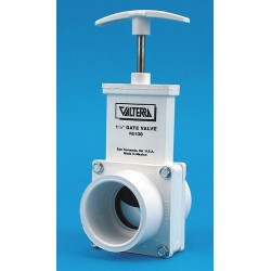 Valterra Products - 6102GR - Class 125 Slip x Spigot Gate Valve, Inlet to Outlet Length: 3-3/8, Pipe Size: 1-1/2, Max. Fluid Te