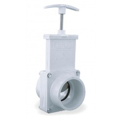 Valterra Products - 6201GR - Class 125 Slip Gate Valve, Inlet to Outlet Length: 3-1/2, Pipe Size: 2, Max. Fluid Temp.: 167F