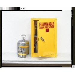 Eagle Mfg - 1903 BEIGE - Flammable Cabinet Benchtop Self Closing 4 Gal Beige Steel 22.25x17.5x18 1 Shelf 70 Pound Eagle Mfg Co. Osha Nfpa Code 30, Ea