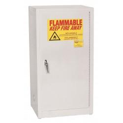 Eagle Mfg - 1906 WHITE - Flammable Cabinet Benchtop 16 Gal White Steel 35x20x18 1 Shelf 150 Pound Eagle Mfg Co. Osha Nfpa Code 30, Ea