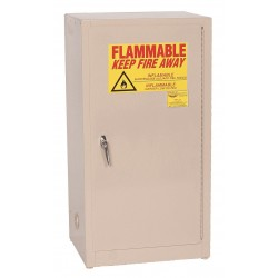 Eagle Mfg - 1905 BEIGE - Flammable Cabinet Benchtop Self Closing 16 Gal Beige Steel 35x20x18 1 Shelf 150 Pound Eagle Mfg Co. Osha Nfpa Code 30, Ea