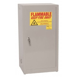 Eagle Mfg - 1905 GRAY - Flammable Cabinet Benchtop Self Closing 16 Gal Gray Steel 35x20x18 1 Shelf 150 Pound Eagle Mfg Co. Osha Nfpa Code 30, Ea