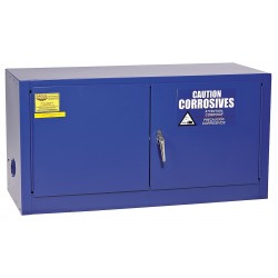 Eagle Mfg - 4HPW8 - 43 x 18 x 22-1/4 Galvanized Steel Corrosive Safety Cabinet, Blue