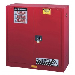 Justrite - 893001 - 30 gal. Flammable Cabinet, 44 x 43 x 18, Manual Door Type