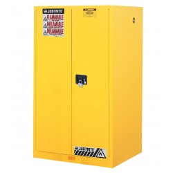 "Justrite - 896003 - 60 gal. Flammable Cabinet, 65"" x 34"" x 34"", Manual Door Type"