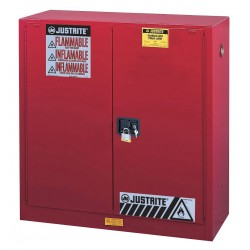 "Justrite - 893021 - 30 gal. Flammable Cabinet, 44"" x 43"" x 18"", Self-Closing Door Type"