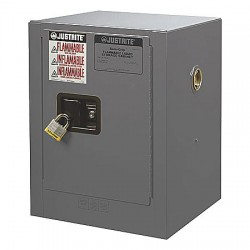 Justrite - 890403 - Flammable Safety Cabinet, 4 Gal., Gray