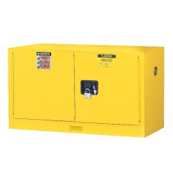 Justrite - 891703 - Flammable Safety Cabinet, 17 Gal., Gray