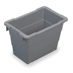 Akro-Mils / Myers Industries - 34302 - Akro-Mils Cross-Stack Tub - External Dimensions: 17.3 Length x 11 Width x 12 Height - 5.51 gal - Stackable - Plastic - Gray - For Multipurpose - 1 Each
