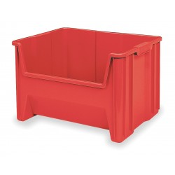 Akro-Mils / Myers Industries - 13017RED - Stacking Bin, Red, 12-7/16H x 15-1/4L x 19-7/8W, 1EA