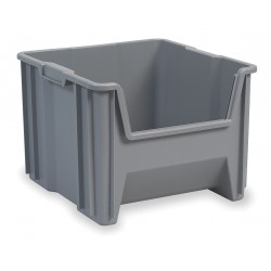 "Akro-Mils / Myers Industries - 13018GREY - Stacking Bin, Gray, 12-1/2""H x 17-1/2""L x 16-1/2""W, 1EA"