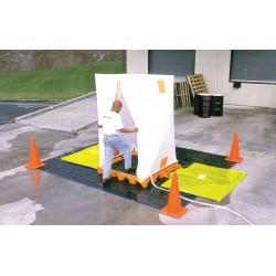 Ultratech - 6010 - Decontamination Deck, Orange/Black Polyethylene, Height 5-3/4, Width 61-1/4, Length 52