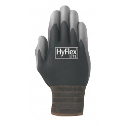 Ansell-Edmont - 11-600-10 - HyFlex Precision 11-600 Gloves with Liner - 10 Size Number - X-Large Size - Polyurethane, Nylon - White - For Packaging, Inspection - 2 / Pair
