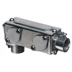 Arlington Industries - 937 - C, LB, LL, LR, or T-Style 3 Conduit Outlet Body, Threaded Aluminum, 175.5 cu. in.
