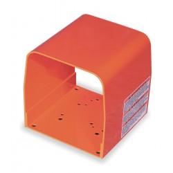 Linemaster - 522-F28 - Orange Steel Foot Switch Guard, 6 Length, 6 Width, 6-1/4 Depth
