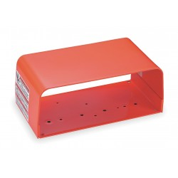 Linemaster - 522-B12 - Orange Steel Foot Switch Guard, 6 Length, 11 Width, 4-1/2 Depth