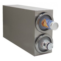 Carlisle FoodService - 38882G - Vertical Cabinet 18/8 Stainless Steel Cup Dispenser, Holds 8 to 48 oz. Cups