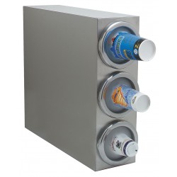 Carlisle FoodService - 38883G - Vertical Cabinet 18/8 Stainless Steel Cup Dispenser, Holds 8 to 48 oz. Cups