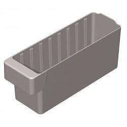 Akro-Mils / Myers Industries - 31142GREY - Drawer Bin, Gray, 4-5/8H x 11-5/8L x 3-3/4W, 1EA