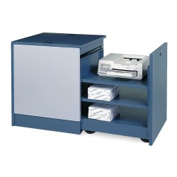 Edsal - CSC6760 - 30 x 27-3/4 x 30 Steel Computer Cabinet Printer Cart Base, Blue/Light Gray