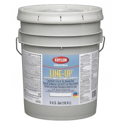 Krylon - K51130404-20 - Water-Base Inverted Striping Paint, Extreme Hide White, 5 gal.