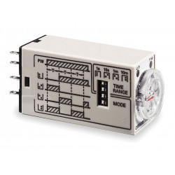 Omron - H3YN-2 AC24 - 3-Function Time Delay Relay, 24VAC, 5A Contact Amp Rating (Resistive)