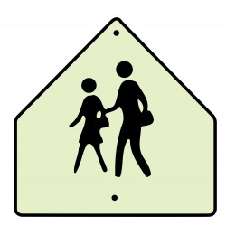 Brady - 113319 - Pedestrian Traffic, No Header, Aluminum, 30 x 30, High Intensity Prismatic
