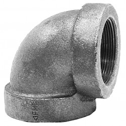 Anvil Fittings - 0300013604 - Elbow, 90, FNPT, 1-1/2 x 1 Pipe Size - Pipe Fitting