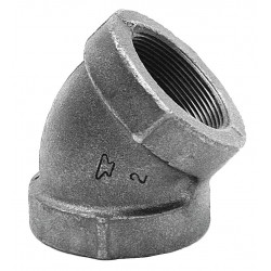 Anvil Fittings - 0300028305 - Elbow, 45, FNPT, 3/8 Pipe Size - Pipe Fitting