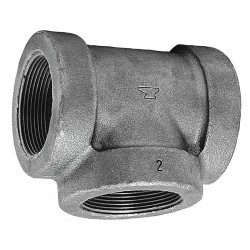 Anvil Fittings - 0300036902 - Reducing Tee, FNPT, 1 x 1 x 2 Pipe Size - Pipe Fitting