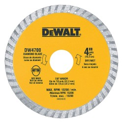 Dewalt - DW4703 - 8 Wet/Dry Diamond Saw Blade, Turbo Rim Type