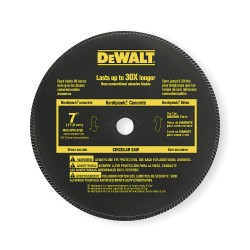 "Dewalt - DW4712 - Dewalt 7"" High Performance Diamond Masonry Blade - x 65 mil Thickness x 7"" Diameter"
