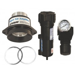 Exair - 120221 - High Efficiency Fixed Aluminum Air Amplifier Kit, Inlet Dia.:1.22