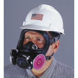MSA - 480263 - Threaded Connection Full Face Respirator, 5 Point Suspension, S